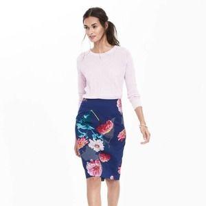 BANANA REPUBLIC Floral Pencil Skirt Gerber Daisy